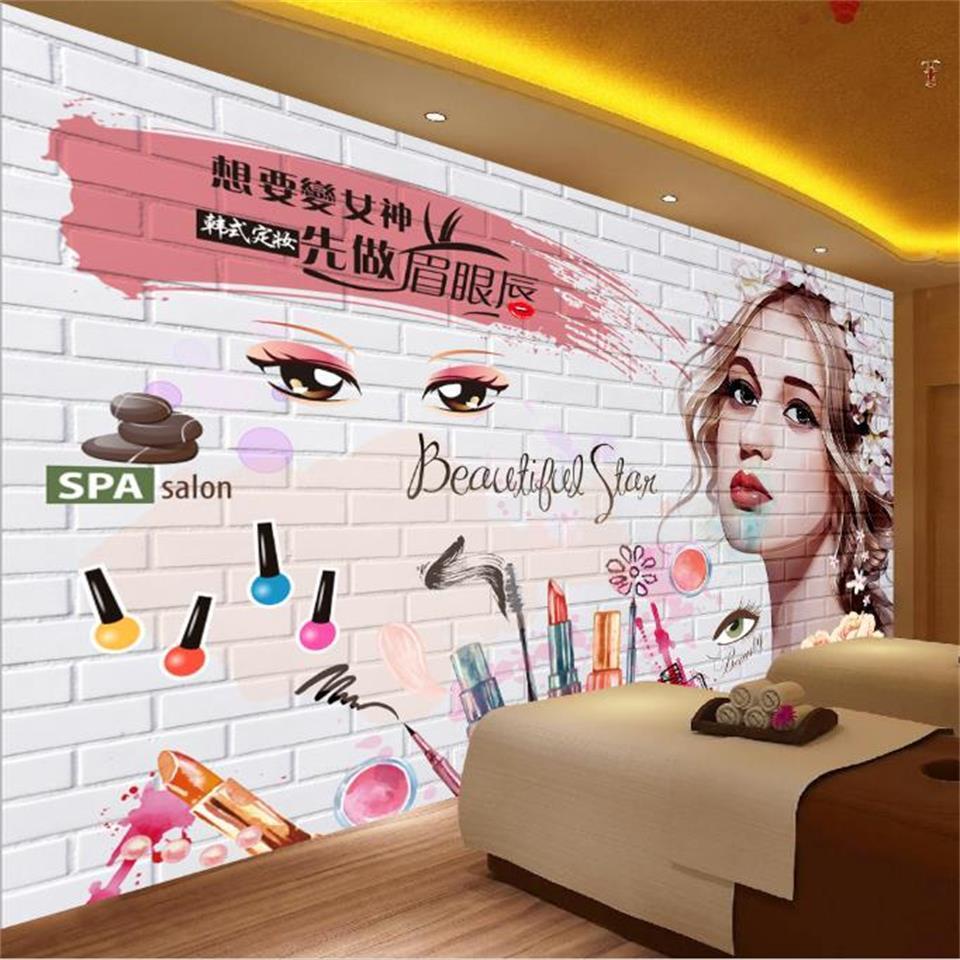 tamaño personalizado 3d fotografía de fondo salón cama de niños Sala de mural de la belleza coreana pared de ladrillo 3d sofá de la imagen pegatina TV telón de fondo fondo de pantalla