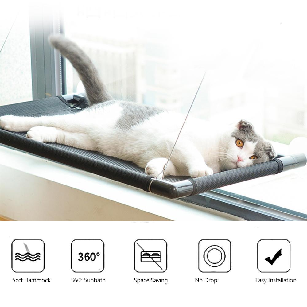 Amaca per gatti Finestra letti Sedili Perch sicuro affidabile tessuto stuoia Finestra Bed Sedile Cat Bed impermeabile per gatti reggono 20KG SH190926