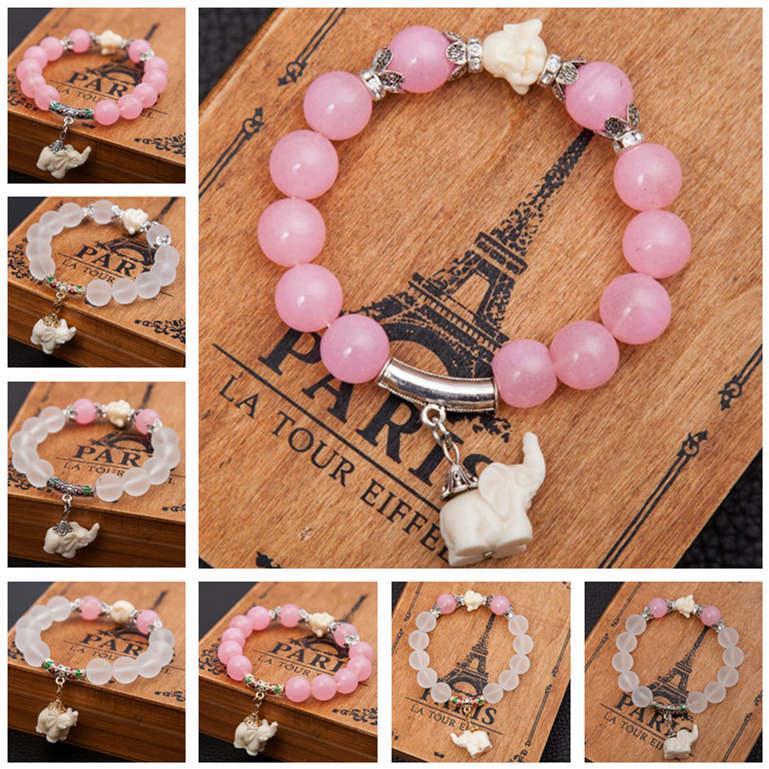 bracelet en cristal givré mode grand mignon bijoux bracelet bébé éléphant DAB298 Charm Bracelet bijoux Bracelets