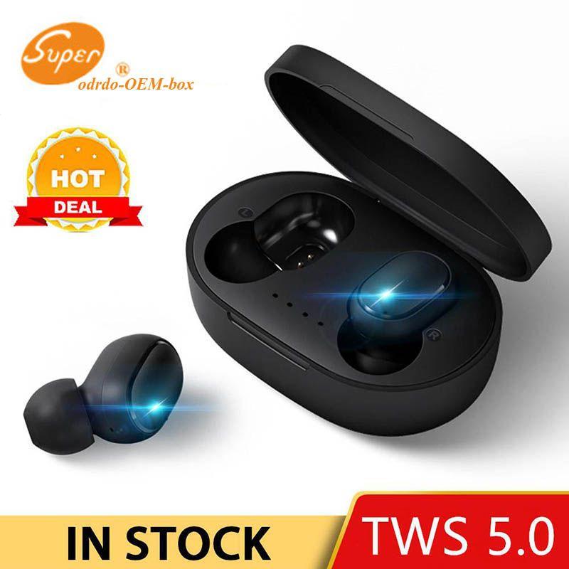 A6S TWS Bluetooth fones de ouvido para redmi Airdots sem fio Earbuds 5.0 TWS fone de ouvido com cancelamento de ruído de microfone para telefone celular Samsung S10 S9