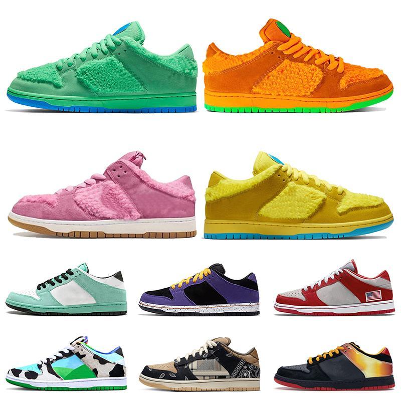 Luxury Grateful Dead дизайнер обуви Зеленый Оранжевый Розовый Желтый женщин мужские кроссовки 2020 ACG Коренастый Dunky Мгновенные Скейтборд кроссовки