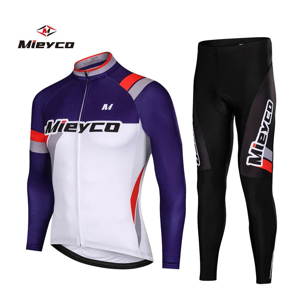 Los hombres la ropa ciclista de manga larga ciclismo conjunto carretera de montaña al aire libre que compite con la camiseta de la bici Pantalón de deporte Ropa Maillot
