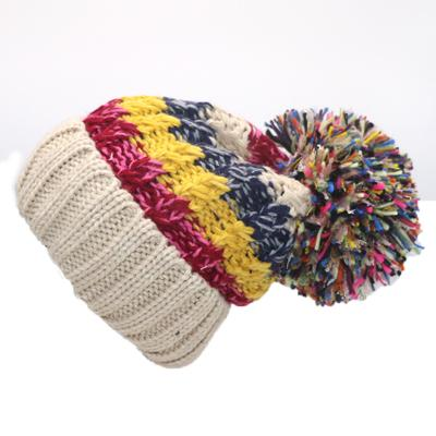 Fashion-1Pcs Winter Women Hats Fashion Warm Wool Pom Pom Hat Knitted Beanies R r Soft Baggy Thick Warm Beanies Caps for Girls