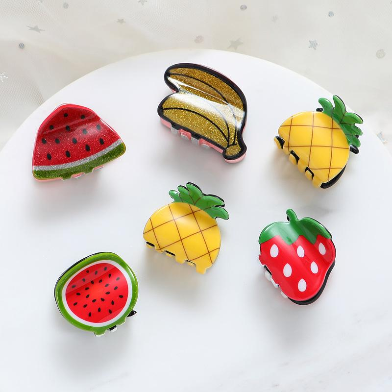 1pcs Cute children small Hair Claws Clip Clamp Accessories Cute Fruit shape Mini Hairpin Hairgrip For Kids Little Girl Ornaments