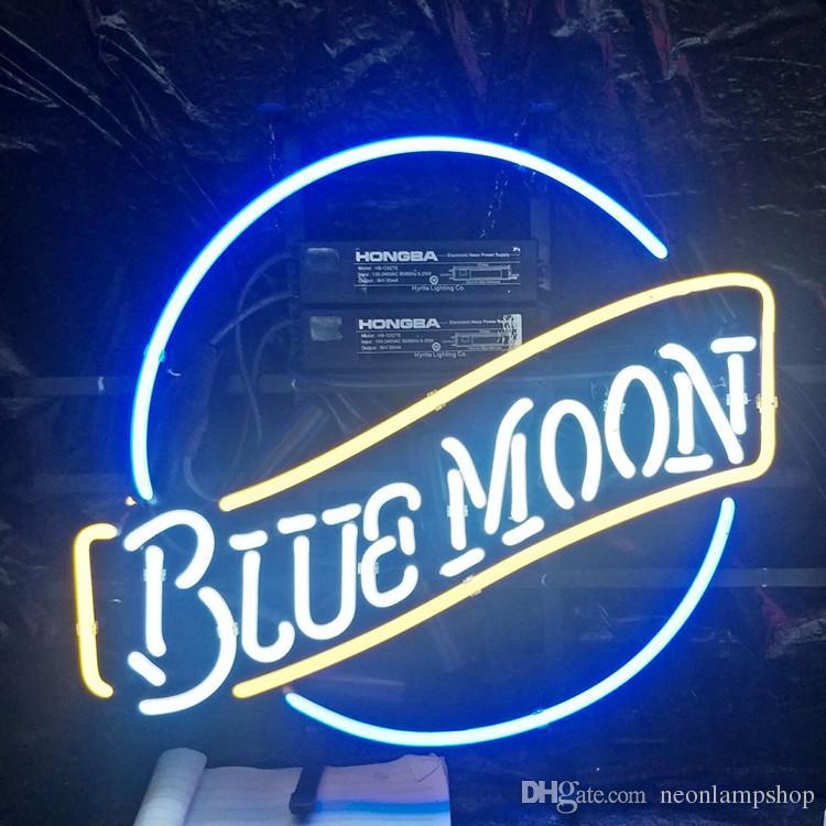 """New Blue Moon Beer Neon Sign 20/""""x16/"""""""