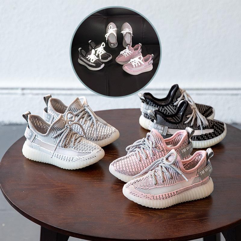 الاطفال الاحذية الأطفال ملاك النجوم الكورية تحلق المنسوجة عارضة الأحذية الرياضية والفتيان والفتيات مضيئة شبكة تنفس أحذية رياضية مصمم