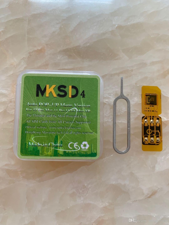 Apenas desbloqueio AUTO um passo !!! HOT MKSD4 OURO Unlock Sim Card para o iPhone XR XS Max IOS 13.4.1 Turbo Double-sim com Auto Menu Pop-up
