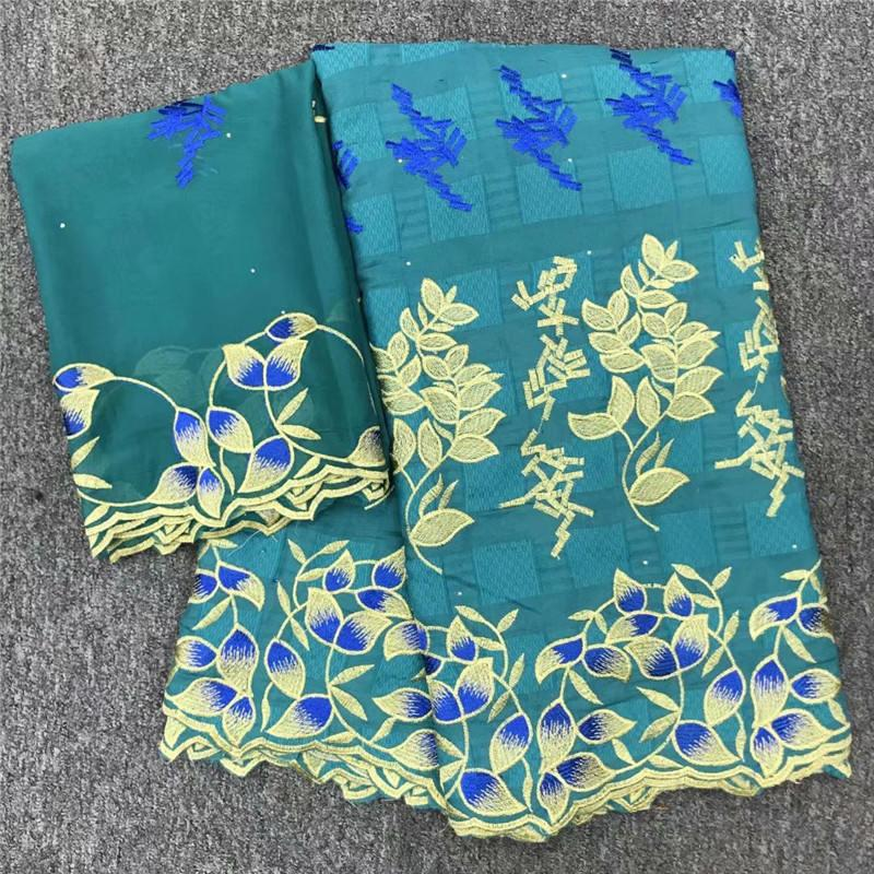 New design African lace fabric swiss voile cotton lace 5 yards and 2 yards net lace for party /wedding special occasion 699928201431