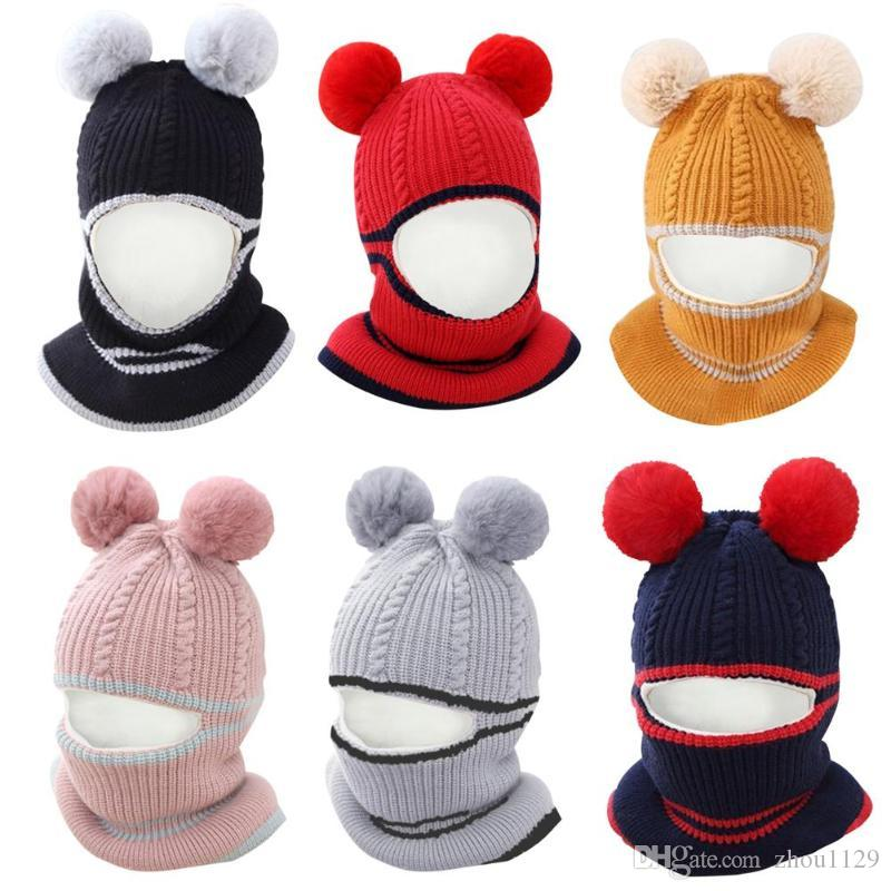 Lovely Baby Cap Winter Warm Knit Hat Infant Baby Girl Kids  Cap Hot Selling New