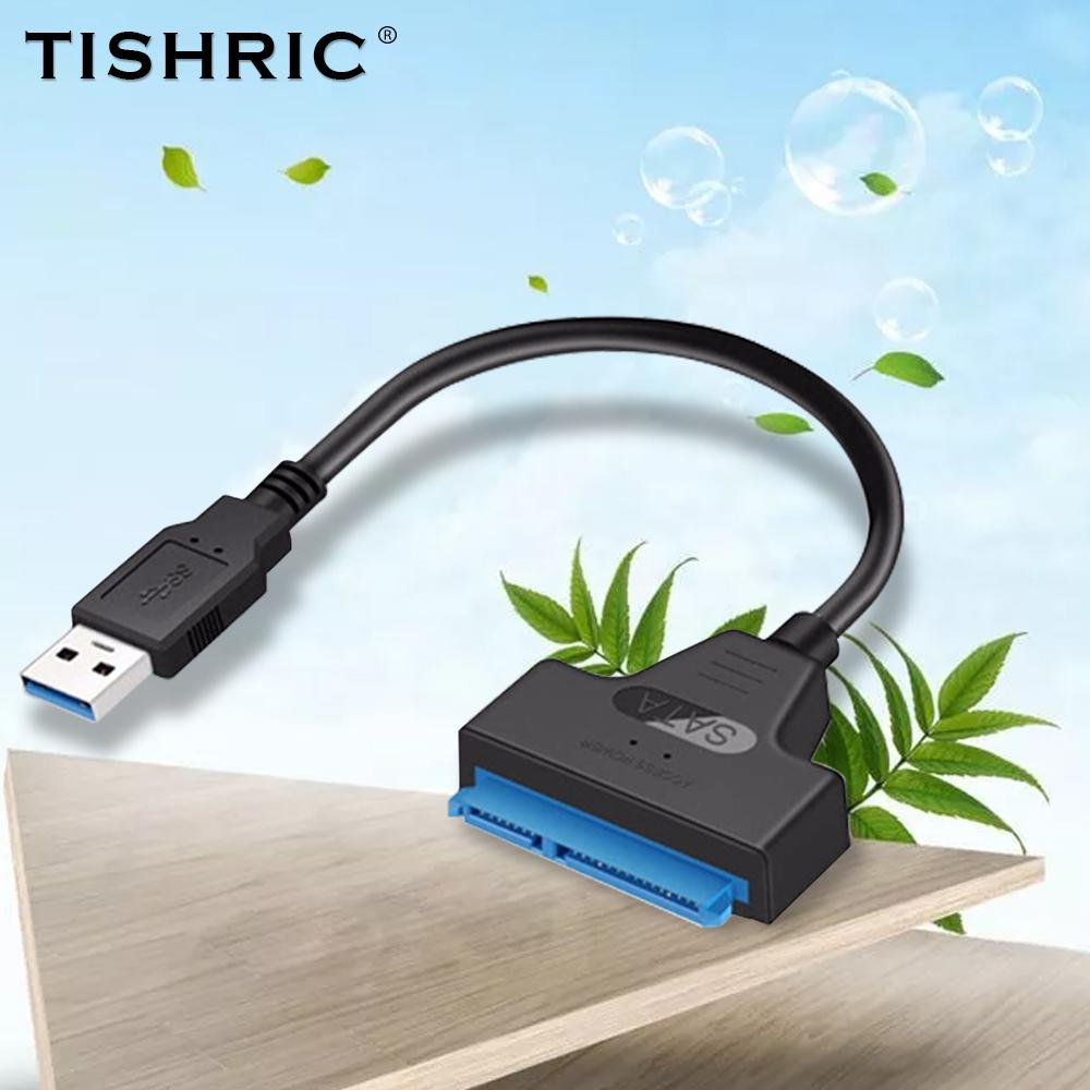 Computer Cables & Connectors TISHRIC USB Adapter SATA 3 to USB 3.0 SATA Cable TYPE-C Converter for 2.5 SSD HDD