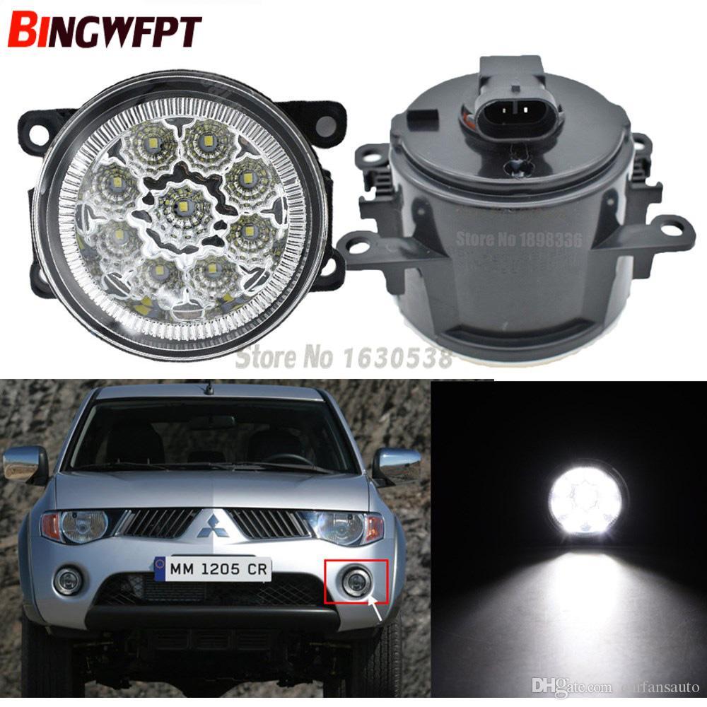 2pcs / pair Car Styling Ronda parachoques lámparas halógenas de 55W para Mitsubishi L200 Triton LED de luz de niebla de H11