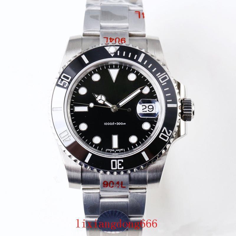 Relógios de luxo V9 904L 116610LN ETA 3135 Automatic Relógios Mecânicos Preto Verde Quadro Cerâmica Luminous Mergulho Assista DHL frete grátis