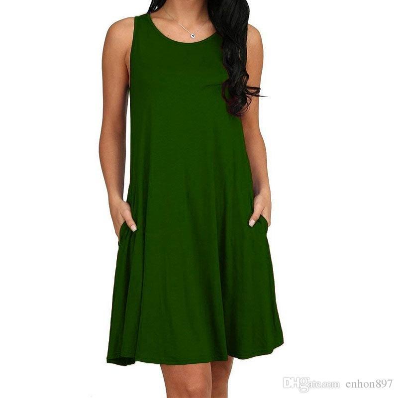 새로운 패션 섹시한 캐주얼 드레스 여성 여름 민소매 이브닝 파티 비치 드레스 짧은 쉬폰 미니 드레스 BOHO Womens Clothing Apparel CD32