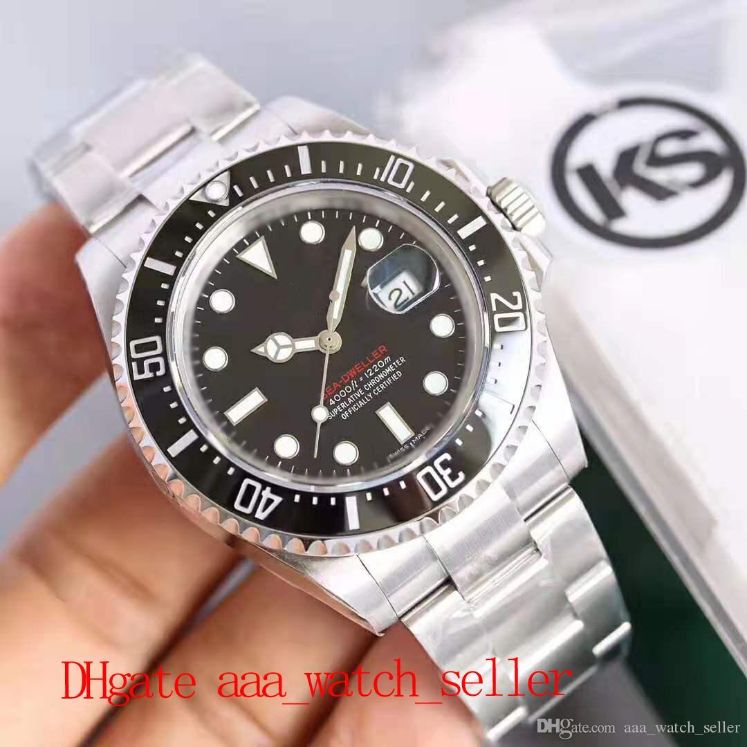 5 Стили Высочайшее качество KS Edition Sea Dweller 126660 126600 116610 Керамическая BEZEL ETA 2836 Автоматическое движение SS904L Водонепроницаемый 100M Наручные часы