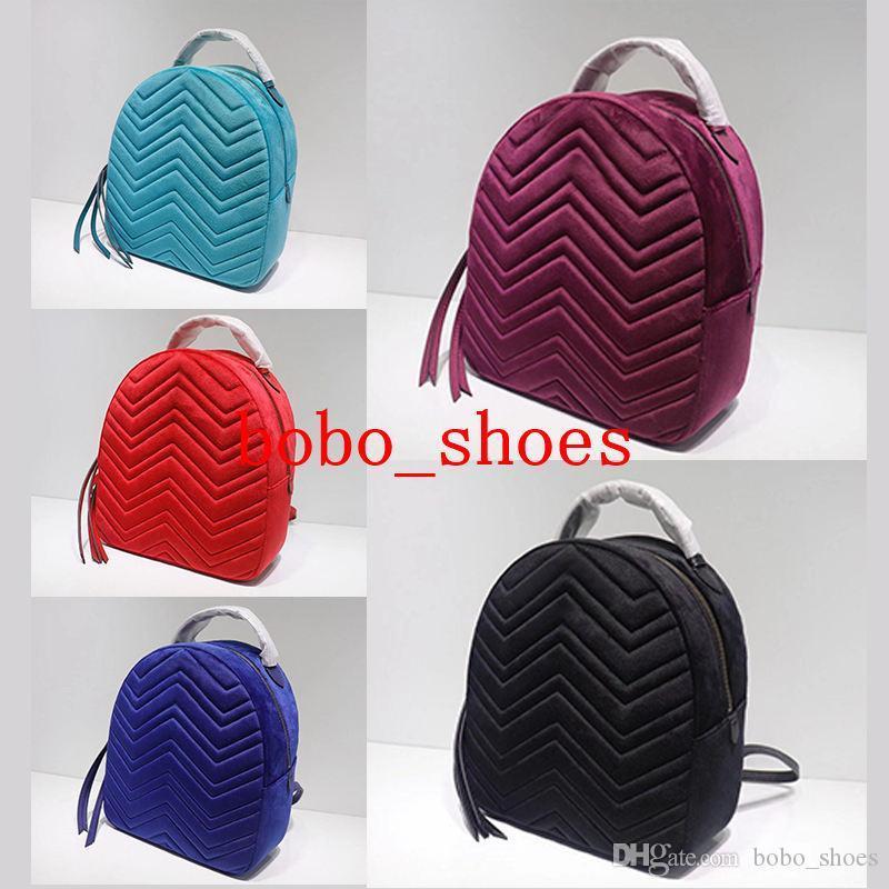 luxury designer backpacks women fashion bag lady hot selling rucksack bag charms velvet material small size