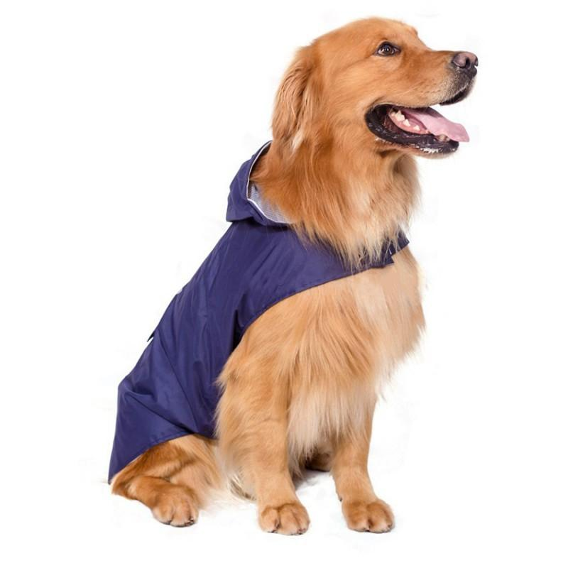 Yağmurlu bir gün için Köpek Yağmurluk Pet Su geçirmez Ayrılabilir Yağmur Ceket Köpekler Suya Dayanıklı Giyim Çiçek Desenler Trençkot
