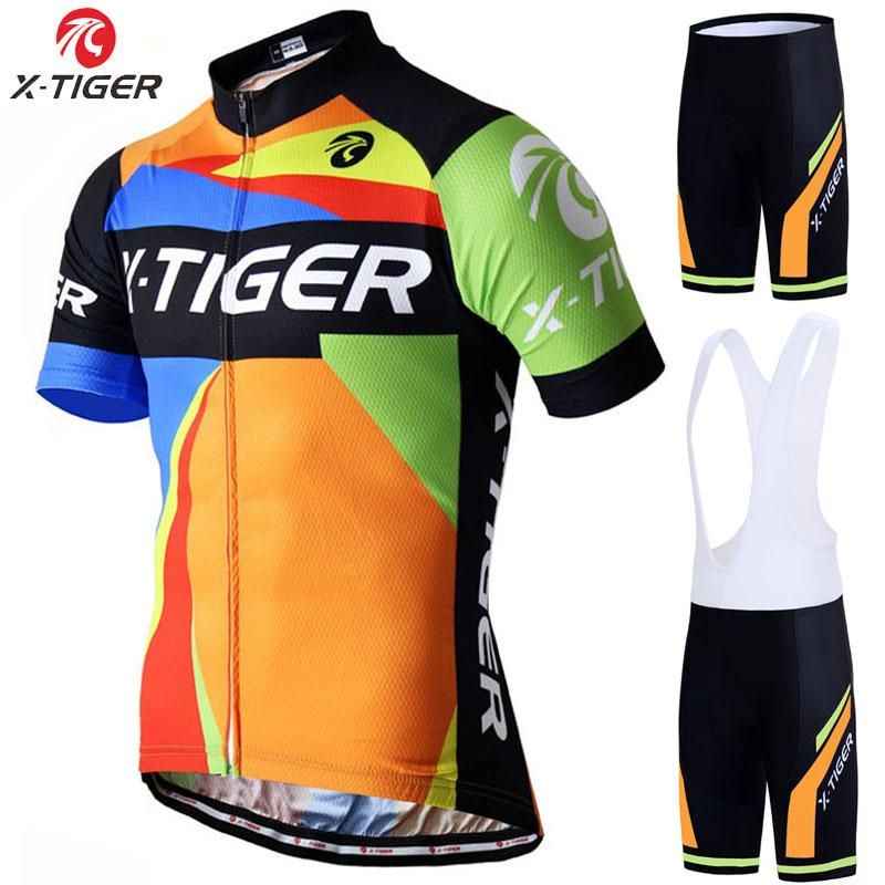 X-Tiger Pro Cycling Jersey Seti Yaz Dağ Bisikleti Giyim Pro Bisiklet Bisiklet Jersey Spor Suit Maillot Ropa Ciclismo