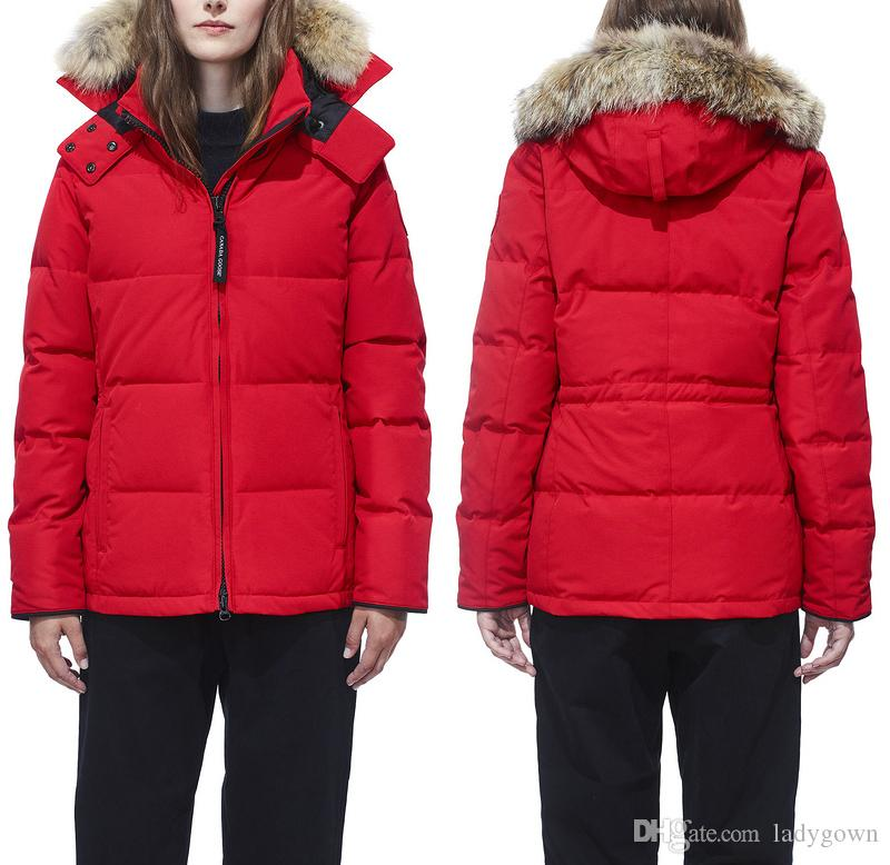 High Quality Wolf Hair Goose Down Jacket Winter Parka Ladies Pike Coat Goose Down 90% Outdoor Skiing Jacket