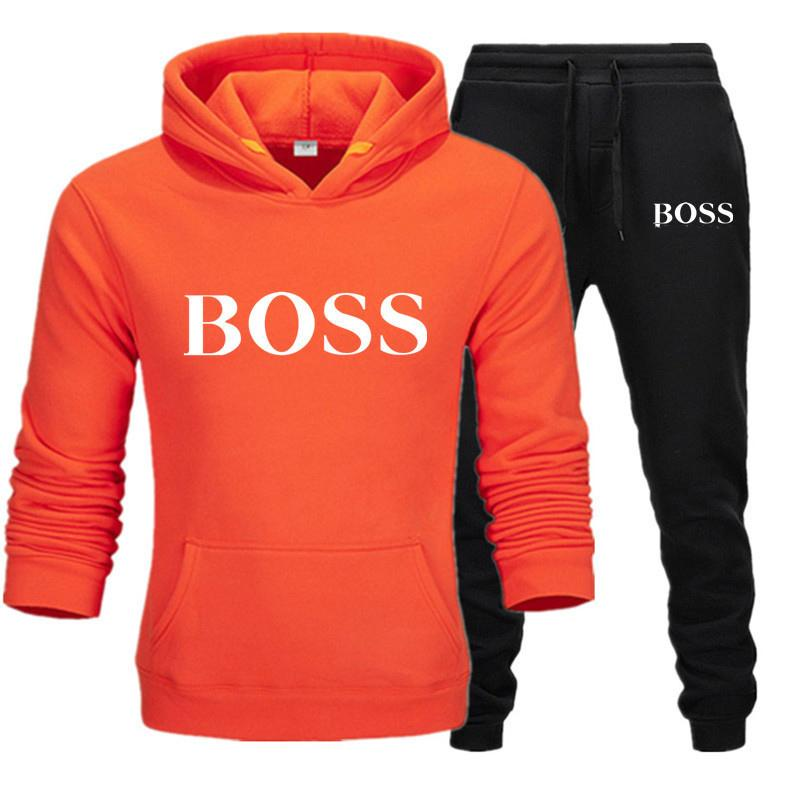 Homens Mulheres Moda Sportwear Primavera Inverno Ourwear moletom com capuz + calça Two Pieces Set agasalho com a marca Letras Tamanho S-3XL