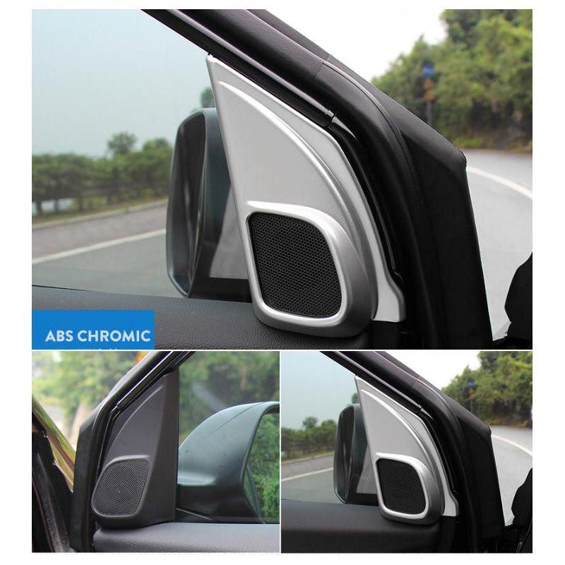 Chrome Car Inner Door Stereo Speaker Dec Cover trim For Honda CRV 2012-2015