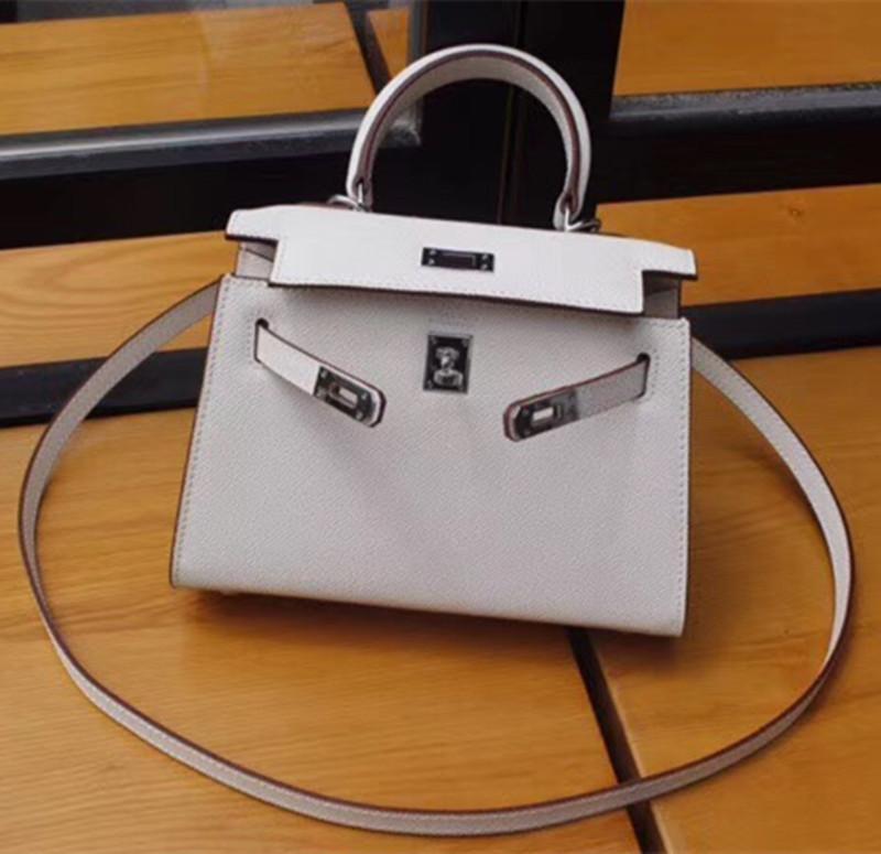 Hombro del diseñador de lujo bolsa de asas de bolsos del diseñador del monedero del hombro de la correa de Crossbody de alta calidad del bolso de piel de becerro mujeres bolso de cuero W165 22cm