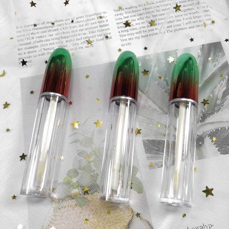 Creux en plastique arc-en-Cosmetic Lip Gloss Tube, bouteille vide Rouge à lèvres clair, Outil de beauté Lipgloss Container Rechargeables