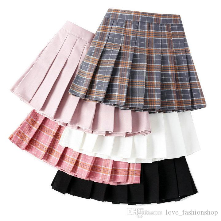 Retail kids luxury designer clothes girls big girl Classic plaid pleated skirt fashion preppy ruffle tutu skirts children clothing 50% off