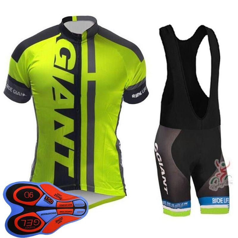 New Team Cycling Short Sleeve Jersey And Bib Shorts Set Men Cycling Jersey Pants