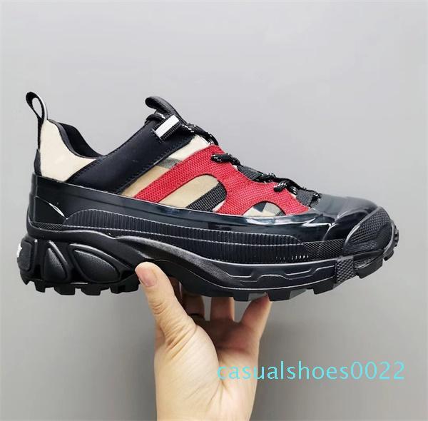 Designer-Weinlese-Arthur Turnschuh-Mann-Frauen-Monogramm TB Print prüfen Cotton Plattform Sneaker Runway Trainer Schnürer c22
