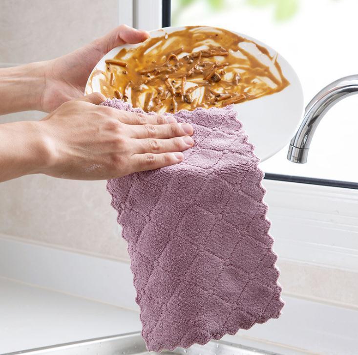المطبخ تنظيف المسح الخرق الصحن امتصاص المياه تنظيف الملابس مكافحة الشحوم صحن القماش ستوكات اللون غسل منشفة ماجيك