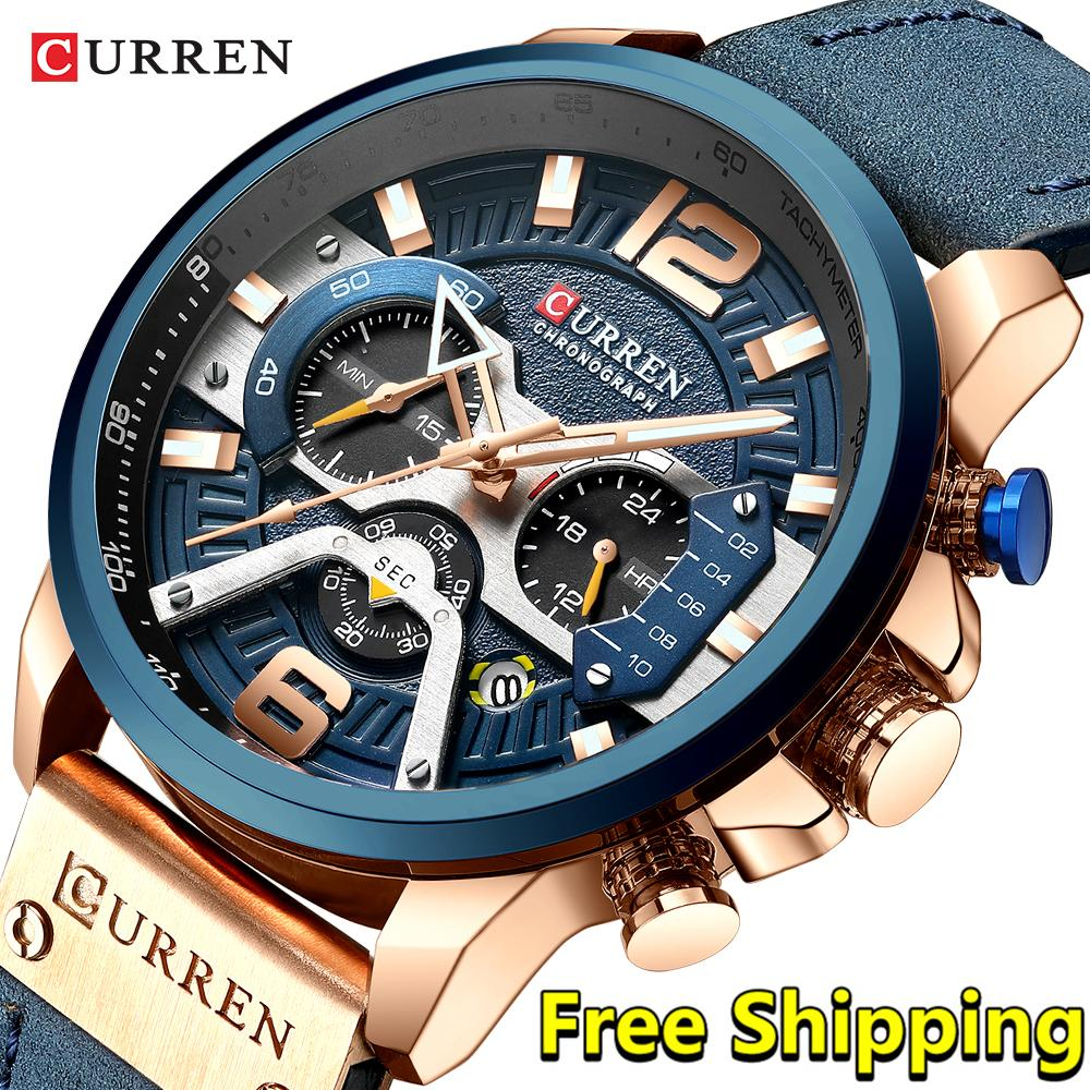 Curren Watch Men 2019 Top Cool Big Dial Wristwatch Men Chronograph Quartz Watch Man 2018 relogio masculino