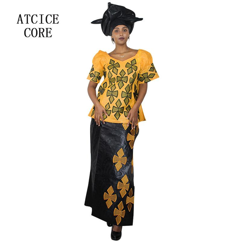 african dresses for women new fashion design 2018 traditional dashiki 100% cotton african bazin riche embroidery clothing DP913