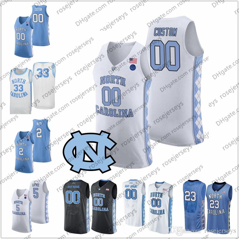 Custom North Carolina Tar Tarent 2020 Basketball 2 Cole Anthony 5 Armando Bacot Brooks Robinson Francis Harris Unc Hommes Jeunes Jersey