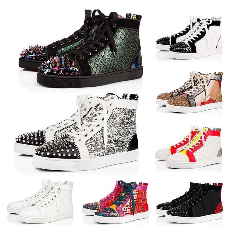 Top de haute qualité rouge chaussures pic bas hommes concepteur womens plateforme marque de mode chaussures de luxe 2020 nouveaux arrivants fond rouge taille 13