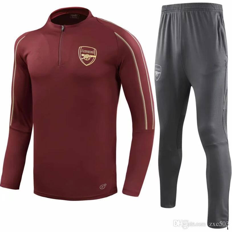 newest 566ef cb14d 2018 2018~19 New Arsenal Jersey Sportswear Arsenal Season Football Training  Suit Clothing Long Sleeve Training Suit Winter Cloth From Zxc503, &Price;  ...