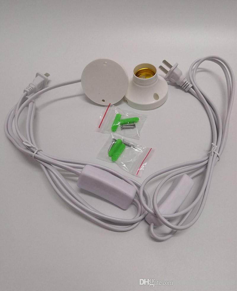 E26 E27 التوصيل المقبس LED لمبة برغي حامل E27 مع سلك حامل مصباح بسيط للDIY اليدوية الجدول مصابيح