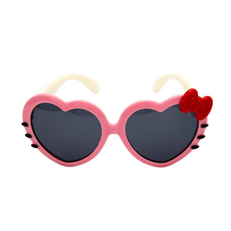 Yeni moda bebek dekoratif güneş gözlüğü kişilik aşk fonksiyonlu gözlük çocukların açık güneş gözlüğü Silikon