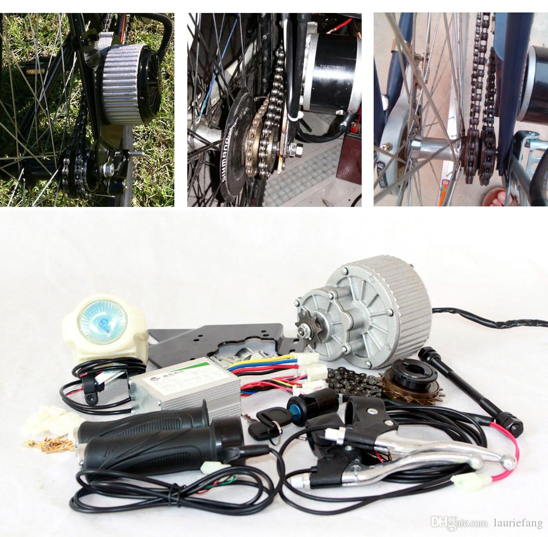 SIDE-MOUNTED 24V or 36V 450W ELECTRIC MOTORIZED E BIKE BICYCLE CONVERSION KIT