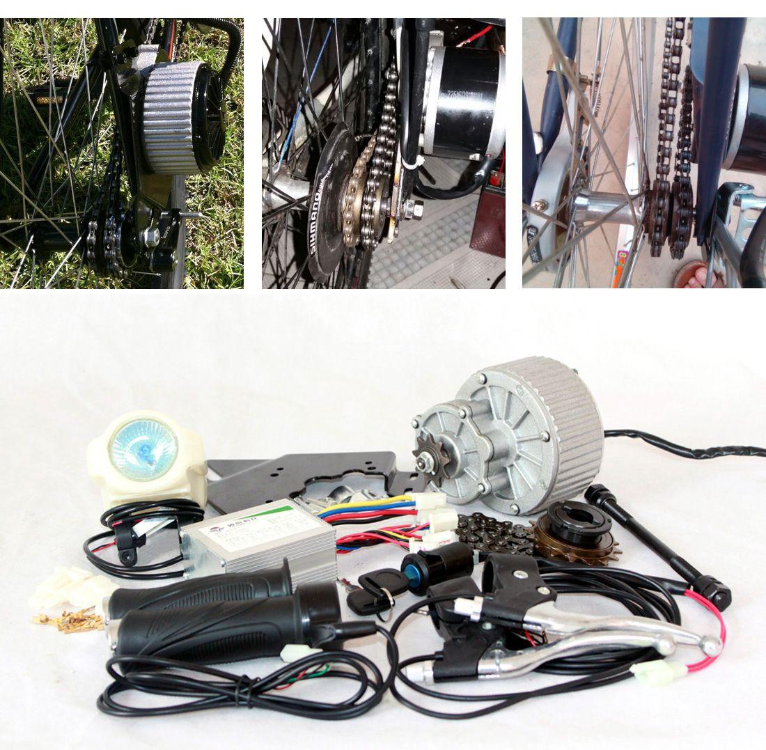 24V 36V 450W 전기 자전거 변환 키트 전기 스쿠터 자전거 GNGEBIKE 키트 전기 모터 MY1018 (측면 장착) DIY EBIKE