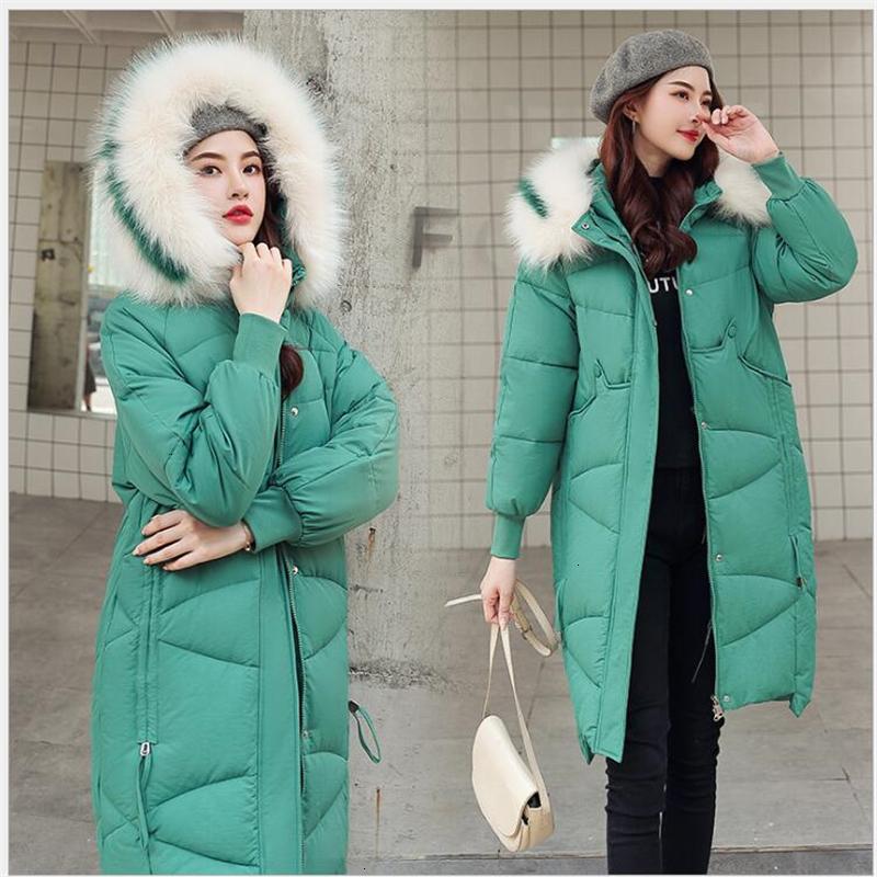 donne cappotto moda inverno 2019 lungo inverno Jas donne plus size nero cappotto 3XL Parka feminino giacca 215