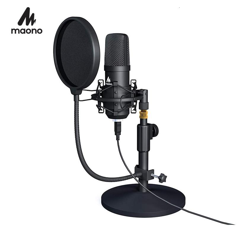 MAONO USB Microphone Kit Professional Podcast Streaming Microphone Condenser Studio Mic for Computer YouTube Gaming Recording T191021