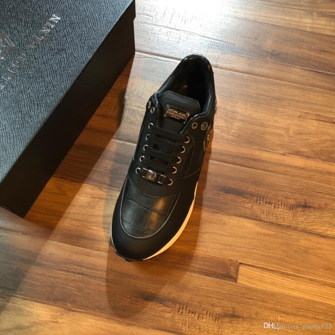 2019 новые поступления мужская женская мода роскошные туфли на платформе плоские свободного покроя леди ходьба свободного покроя кроссовки мужские кроссовки обувь кожа D04
