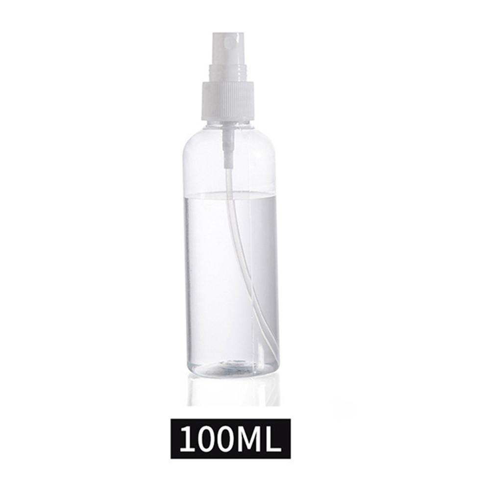 100 PcsTransparent пустой многоразового бутылки спрей 30мл/50мл/100мл портативный небольшой прозрачный пластиковый пустые бутылки спрей многоразового бутылки
