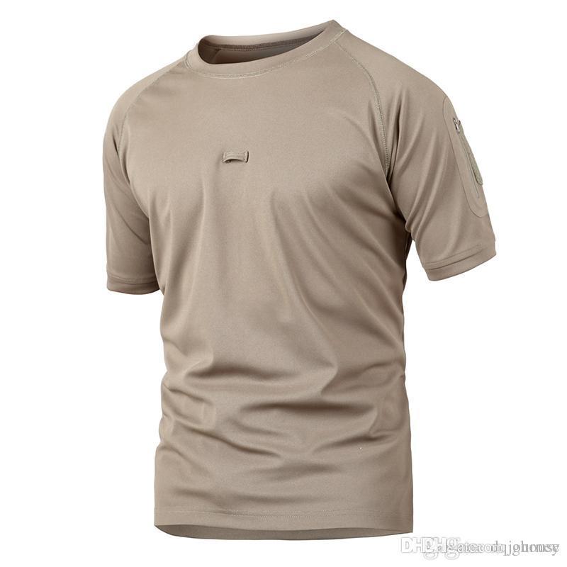 Homens Famosos T Camisa Ao Ar Livre Marca Camping Caminhadas T-Shirt Caça Verão T Camisa Camuflagem Esporte Camisa Roupas Táticas
