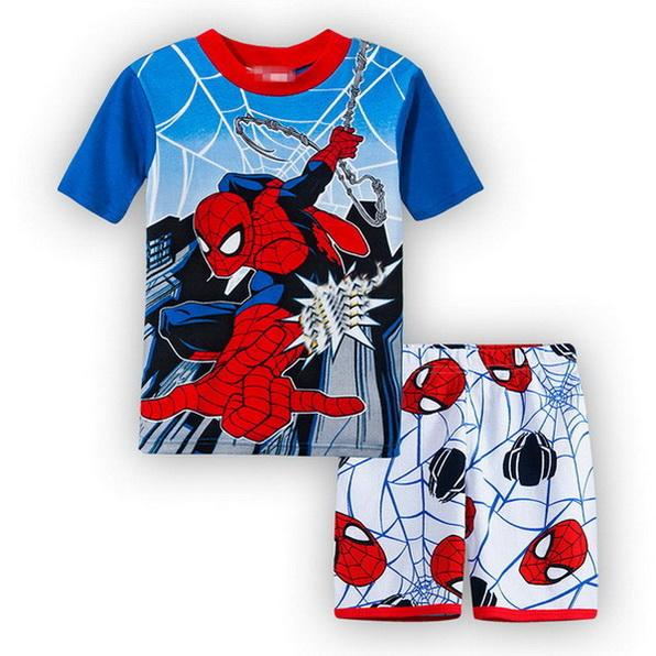 2018 Special Offer Cheap Children Baby Boy's Nightwear Girl's Kids Cartoon Shorts Sleeve Pajamas Suit Sleepwear Homewear YW113
