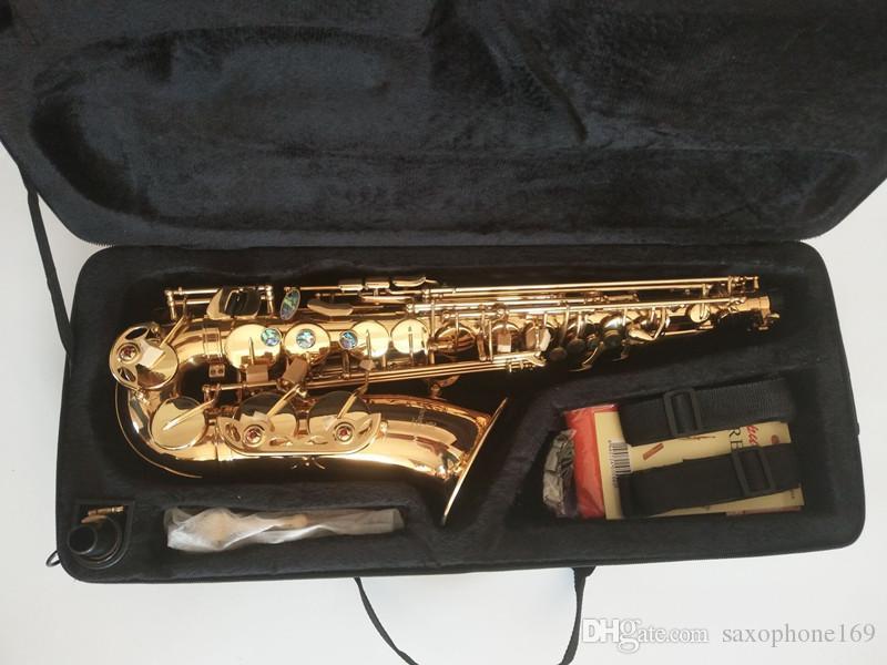 Best Quality Yanagisawa A-991 Alto Saxophone E-Flat Lacquer Gold Sax Alto Mouthpiece Ligature Reed Neck mouthpiece With case