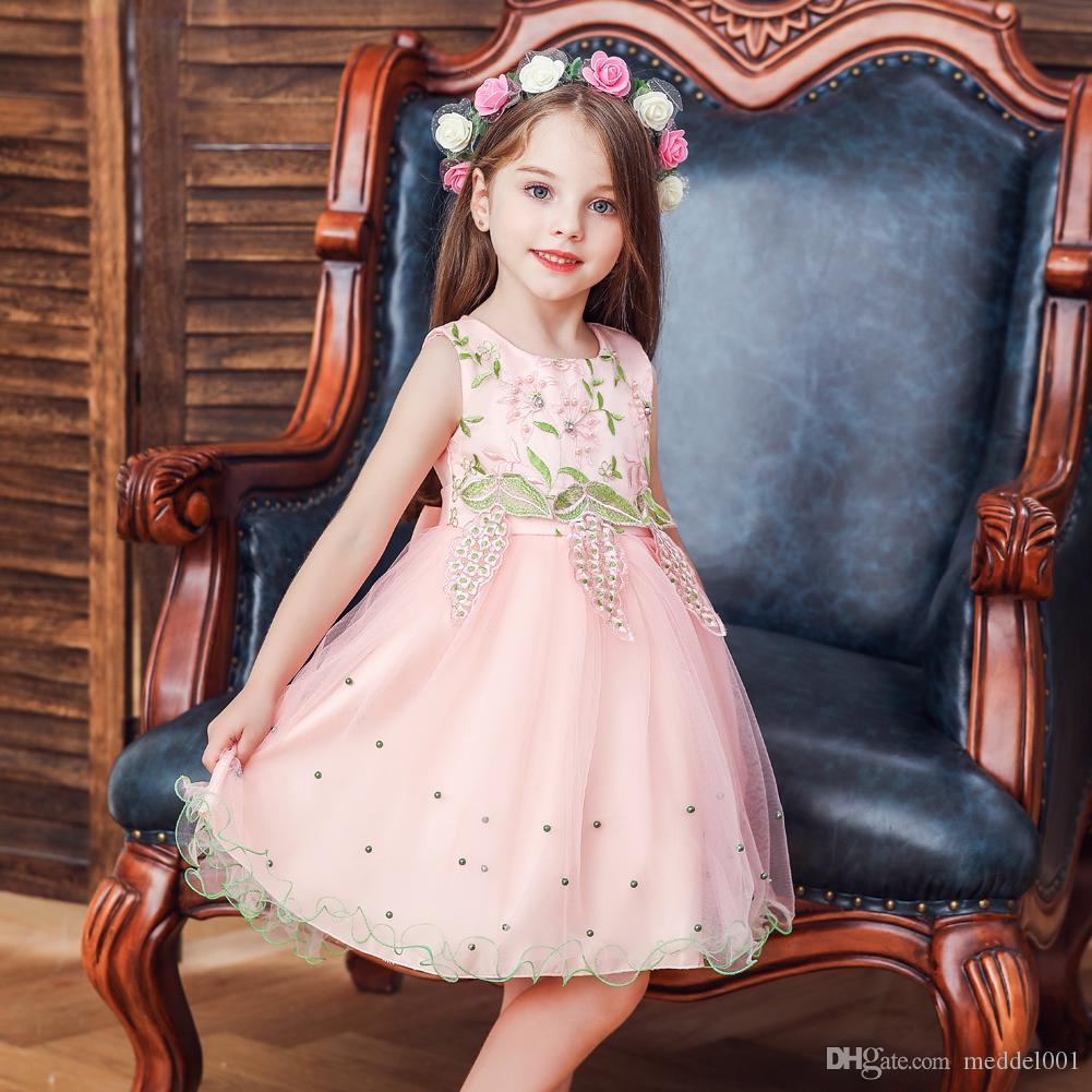 Sparkly Lace 2019 Платья для девочек-цветочниц на свадьбу Винтаж Полые спинки Блестки со стразами бисером Первое причастие платье