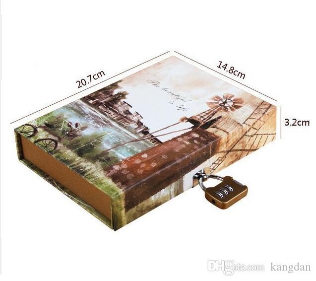 fashion design Quaderni diario vintage blocco 192 fogli freschi spessi block notes Diario di viaggio Diario creativo Business notebook classico