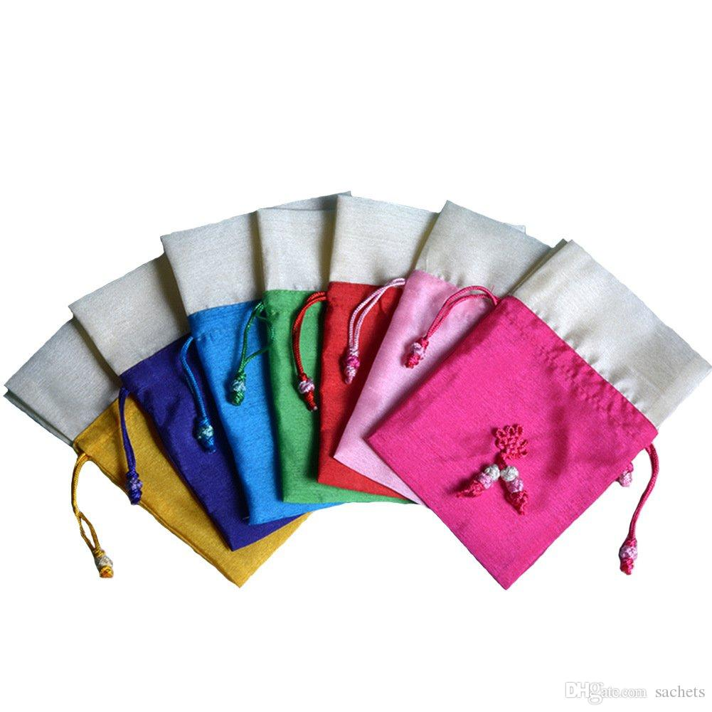 TooGet Sachet Gift Bags Ice Silk Fabric Bags Drawstring Cotton Bags 4x6 Inch for Potpourri Packing,6-Pack