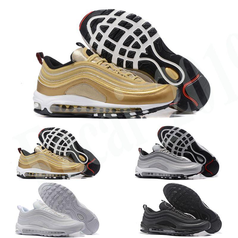 Nike Air Max 97 ولدت 2020 رجل حذاء رياضة أسود لامع الذهب إرتداد مهزوم لديها يوم الاحذية ساوث بيتش OG رياضة المرأة أحذية رياضية مدرب K8
